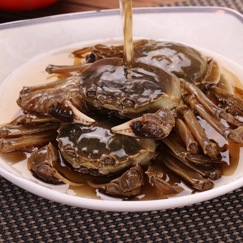 品三江醉蟹900g 醉毛蟹 酱蟹 醉螃蟹 醉河蟹酱螃蟹 宁波腌制海鲜