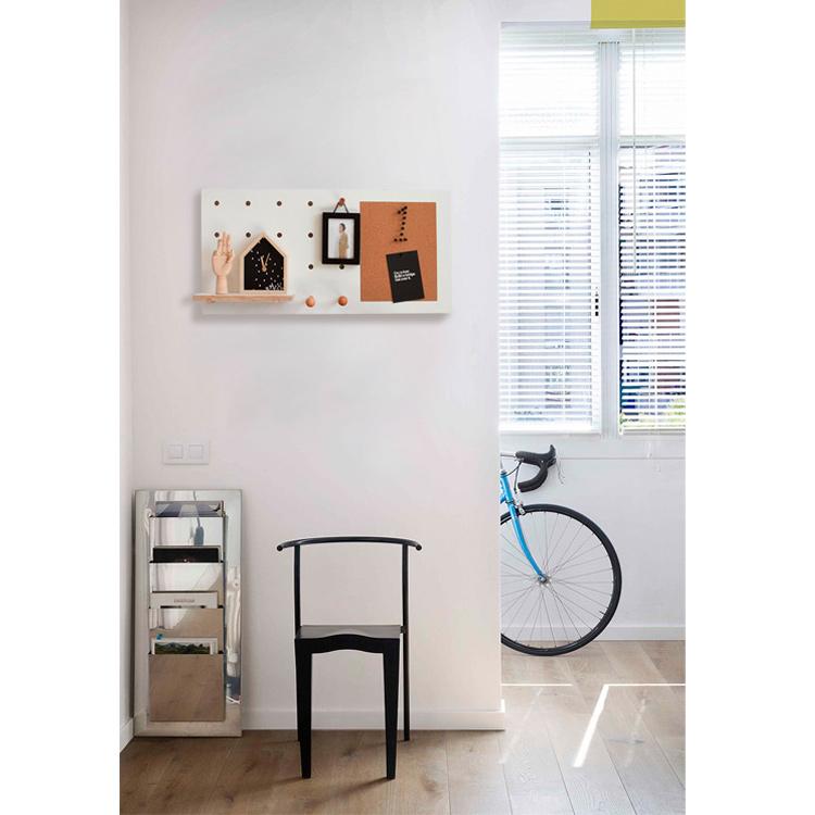 收纳墙上置物架 ins 洞洞板软木板木质实木照片墙留言板记事板北欧