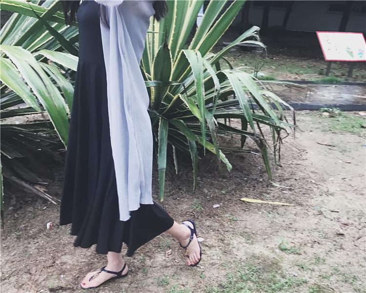 2017新款凉鞋女夏平底学生夹趾沙滩防滑百搭罗马夹脚凉鞋果冻鞋潮