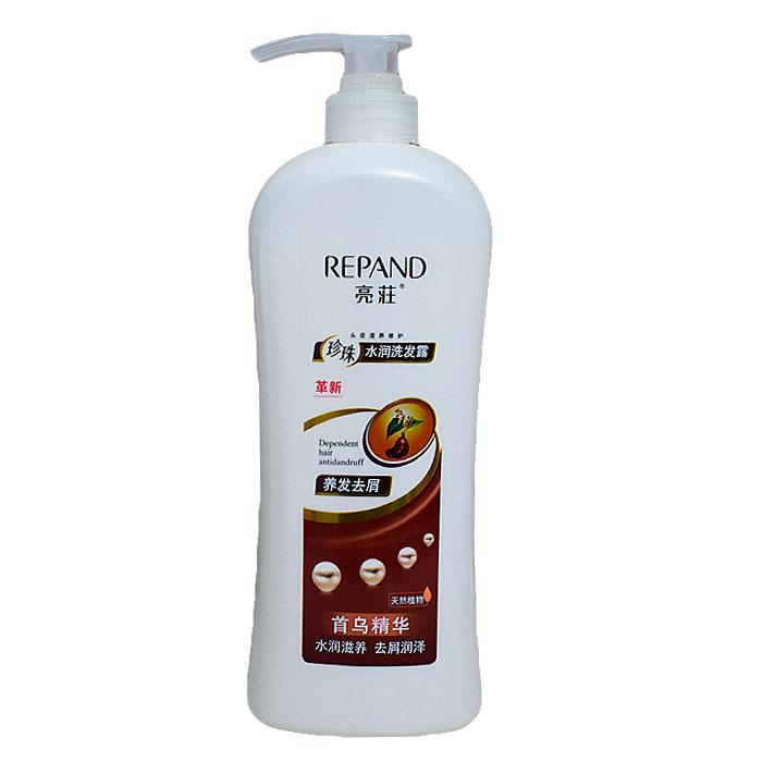 亮莊珍珠水潤洗髮露養髮滋養去屑1L首烏精華洗髮水
