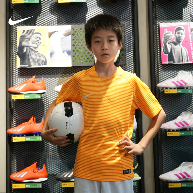 正品耐克/NIKE兒童T恤小學初中學生跑步足球生活運動服透氣舒適
