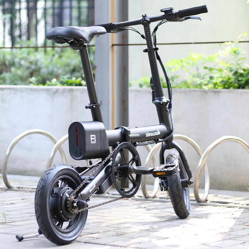 新国标ideawalk F1折叠电动自行车女式小电动12吋代驾60~100公里