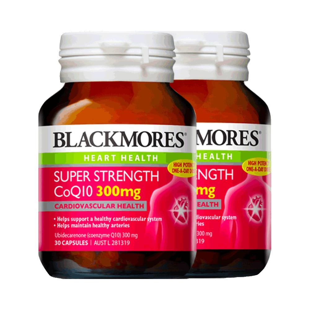 【直营】Blackmores/澳佳宝高浓缩辅酶Q10 300毫克30粒*2瓶