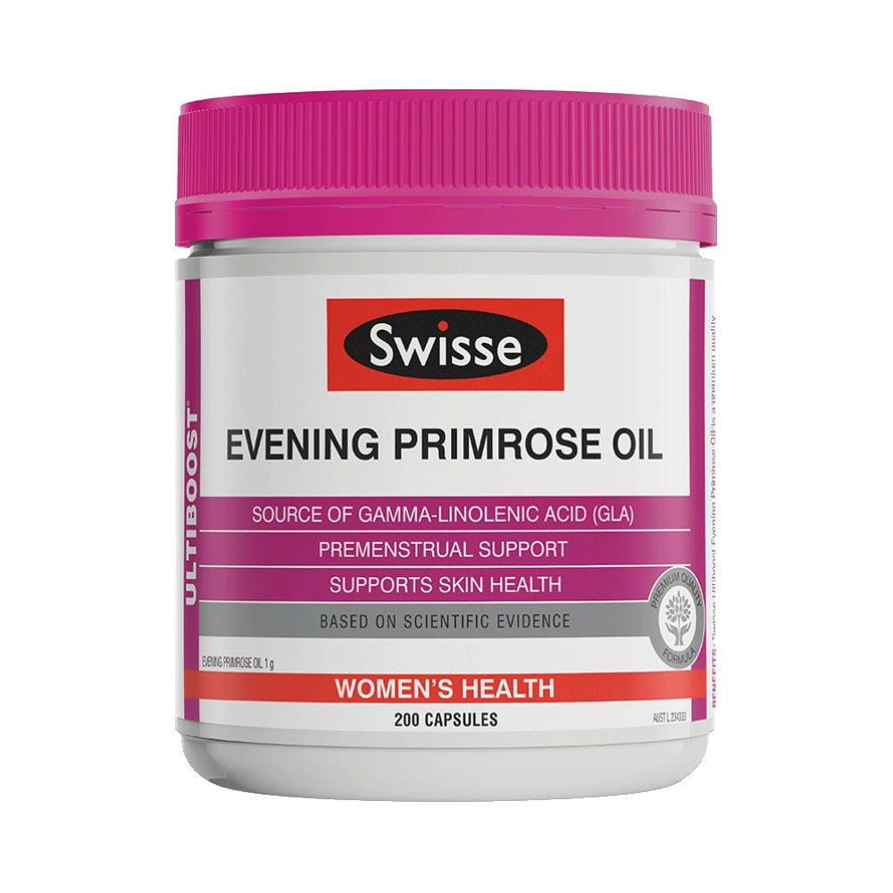 澳洲Swisse进口月见草胶囊女性保健品200粒呵护经期健康成人女士