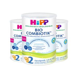 德国喜宝HiPP荷兰版婴幼儿有机益生菌配方奶粉2段800g*3罐