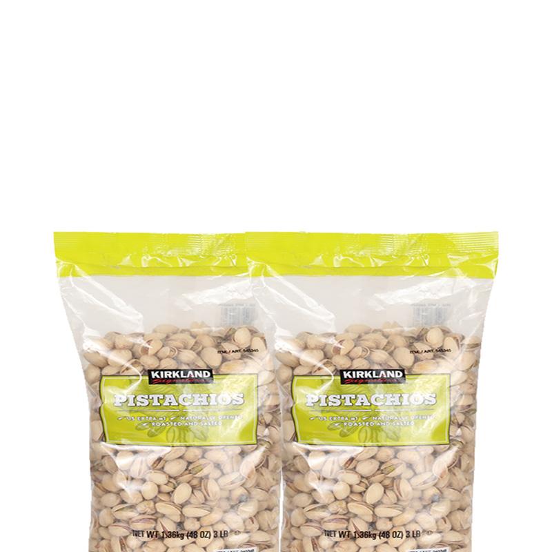 2 1.36kg 盐开心果零食坚果仁 kirkland 美国进口科克兰 直营