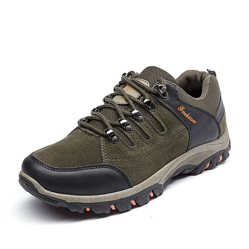 夏秋季男士登山鞋男鞋防滑耐磨徒步鞋透气运动鞋户外旅游鞋子板鞋