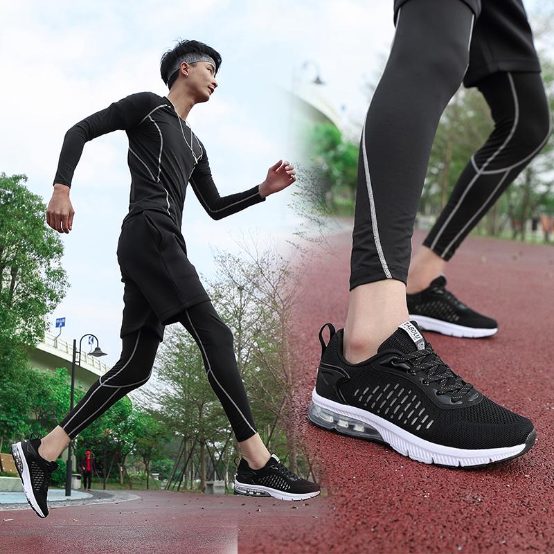 新款夏季气垫鞋男鞋镂空透气防臭运动鞋男网面耐磨跑步鞋旅游鞋男