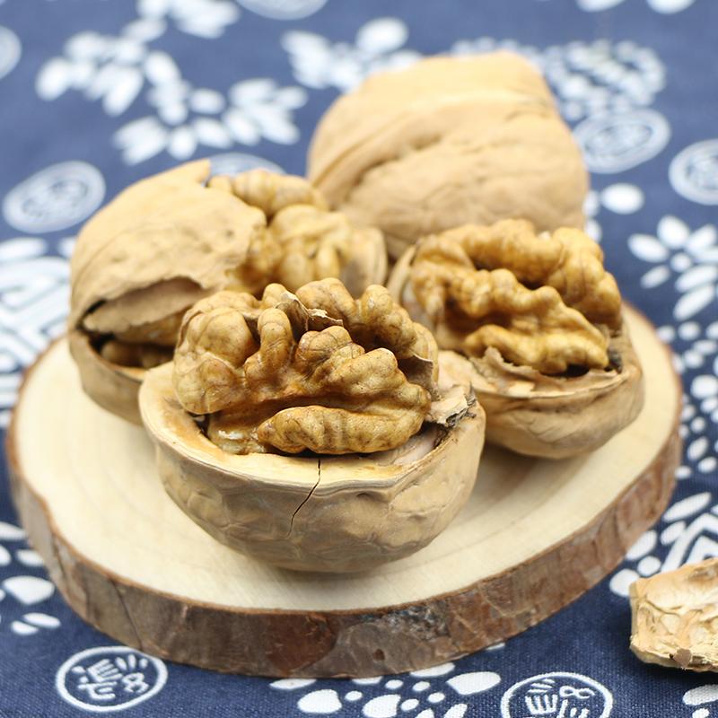 新疆特产薄皮核桃500g*2袋原味新疆核桃脑核桃营养坚果零食干果