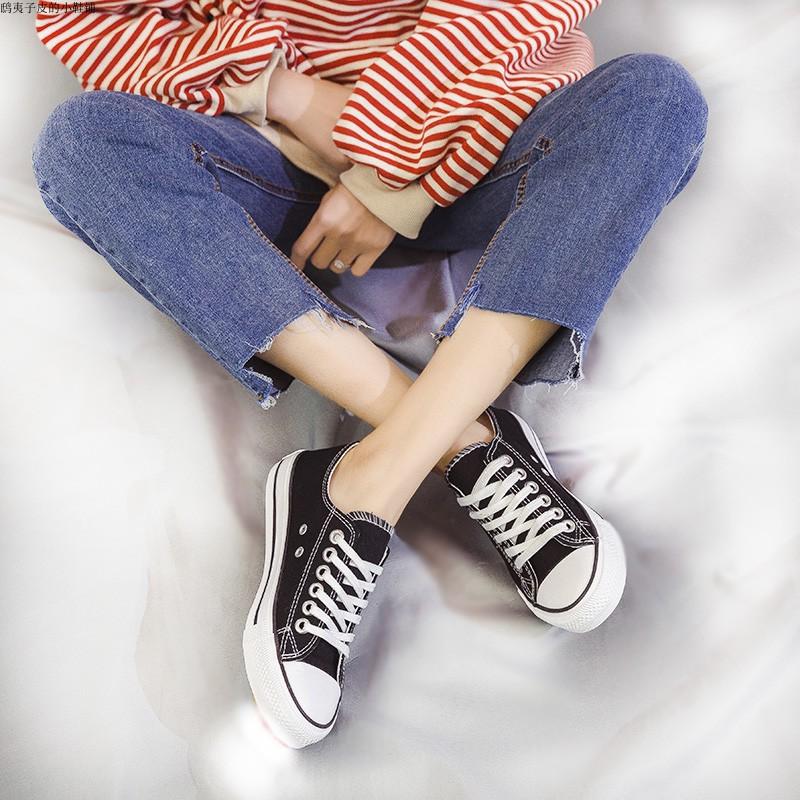 帆布鞋女学生夏透气休闲鞋韩潮流个姓情侣鞋低帮小白鞋成都平底鞋