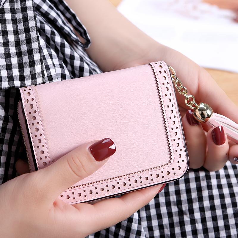 新款卡包钱包一体包女式大容量超薄简约证件多卡位信用卡套 2018