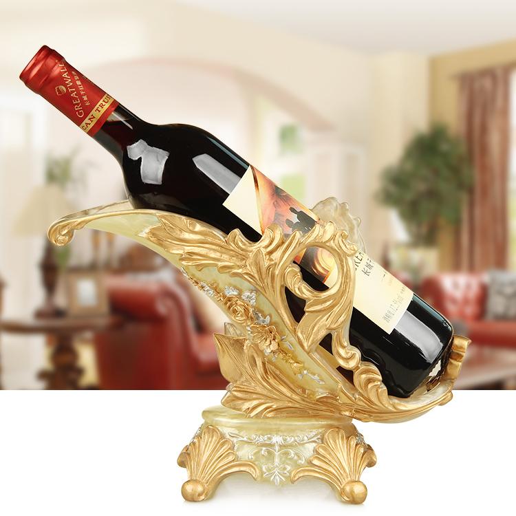 欧式创意红酒架酒瓶架酒柜装饰品树脂工艺品摆件葡萄酒架酒具酒托