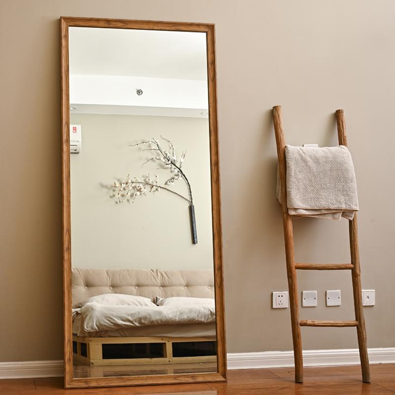 镜子全身镜落地镜家用北欧网红穿衣镜服装店试衣镜立体支架壁挂镜