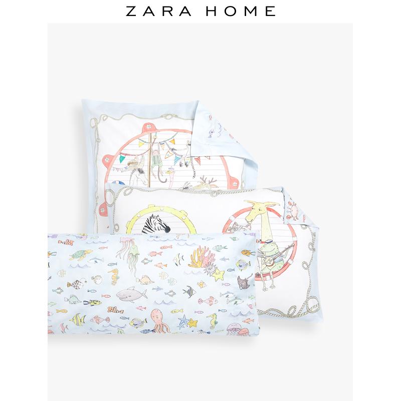 47381000999 儿童系列双面动物乘船卡通床品套组纯棉 Home Zara