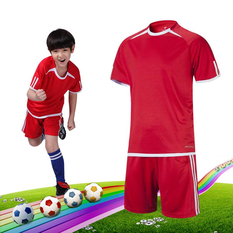 儿童足球服套装足球队服定制 短袖男成人学生足球比赛服速干透气