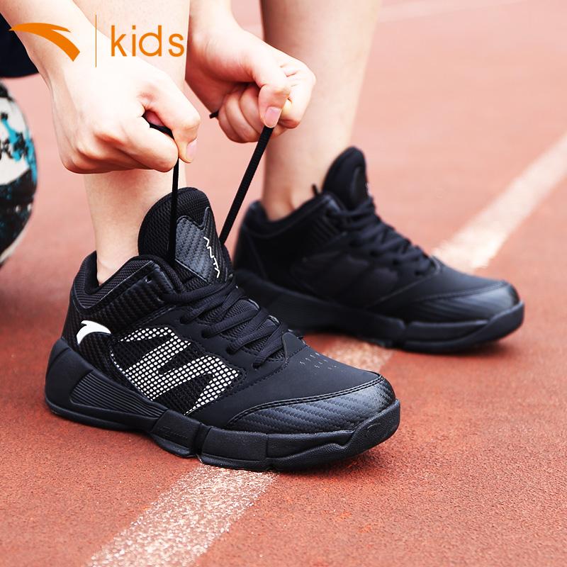 安踏儿童篮球鞋男小学生男童鞋子2019新款秋款官网中大童运动鞋男
