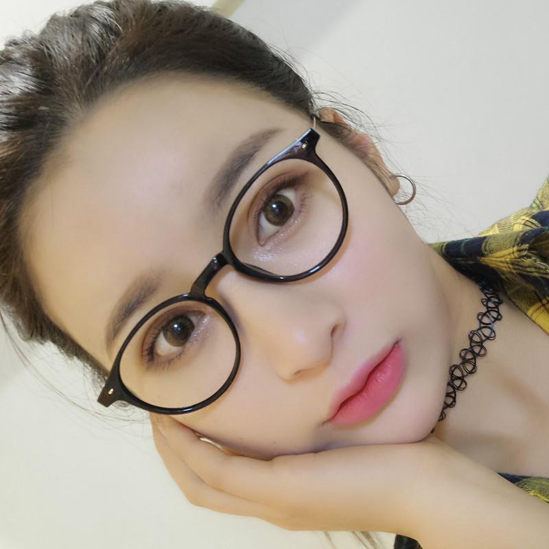 2 度镜片圆形时尚经典眼镜免配镜 400 0 男女通用成品近视眼镜
