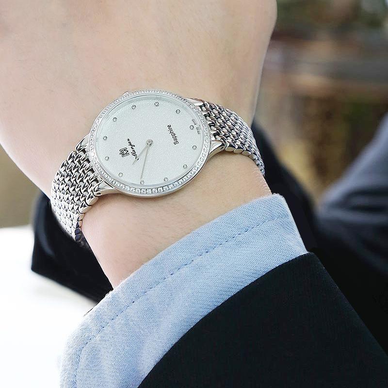瑞士名爵Manjaz手表进口男士精钢表带石英超薄时尚系列6109M