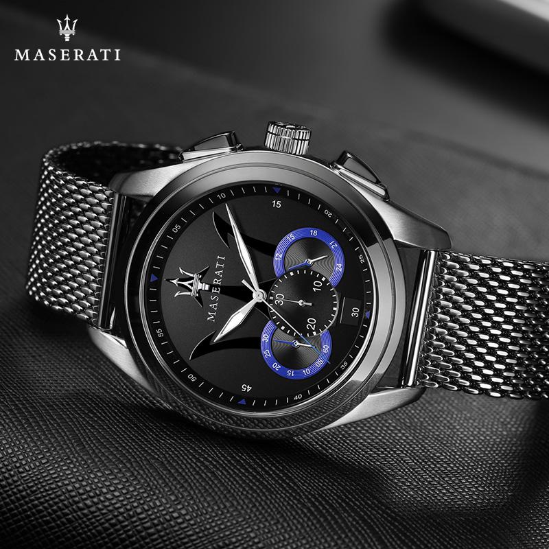 maserati玛莎拉蒂男表时尚商务休闲石英手表防水名牌腕表