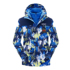 Sibolandi printed children's jacket winter boys and girls two-piece plus velvet three-in-one detachable jacket