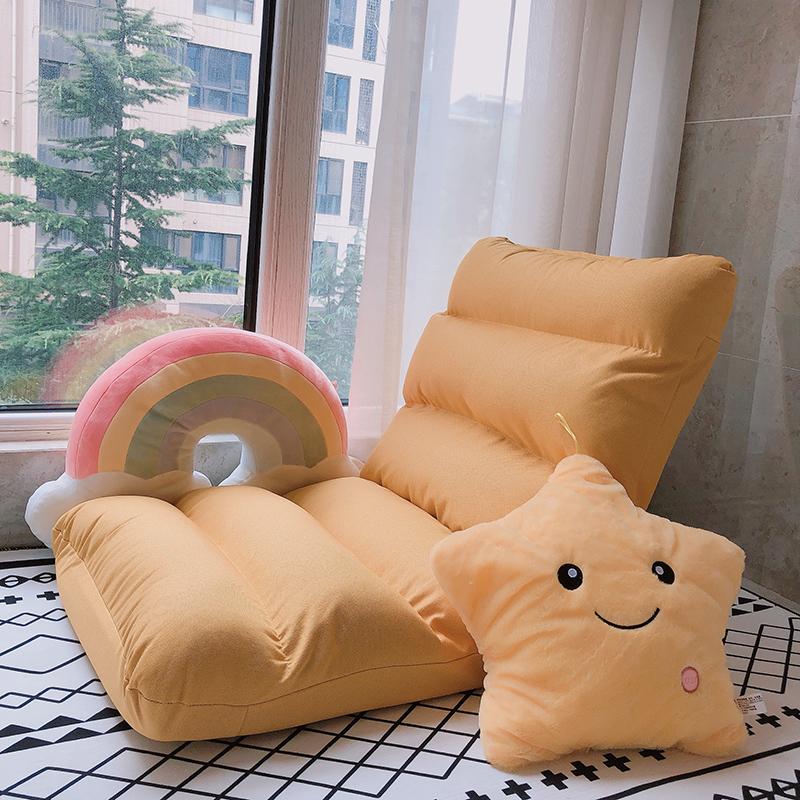 懒人沙发榻榻米床折叠靠背单人卧室小床上地上日式飘窗网红款椅子