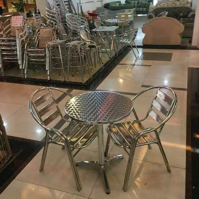 戶外鋁合金桌子不鏽鋼桌椅組合不鏽鋼椅陽臺休閒椅靠背椅傢俱