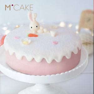 Mcake卡通安逸兔子芝士奶油草莓儿童周岁生日蛋糕 同城配送上海