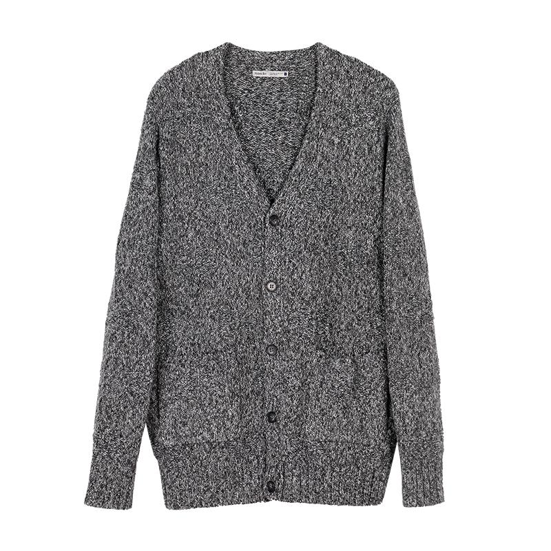 中和休闲男装毛衣外套针织系扣开衫春秋5576 X02R X02J