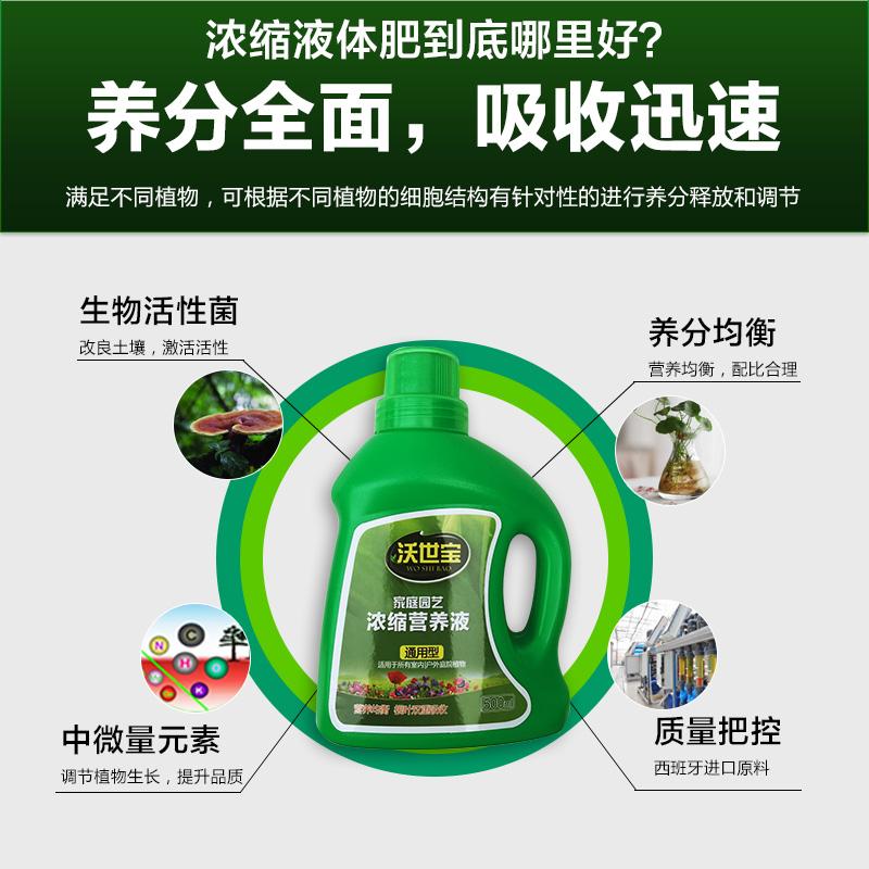 营养液通用型盆栽花肥料植物绿植多肉兰花绿萝花卉水培专用液体肥