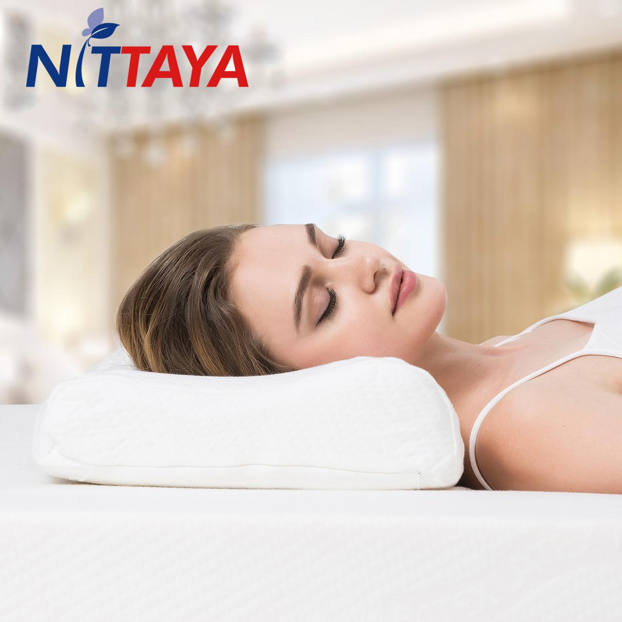 Nittaya泰国进口天然皇家乳胶枕头颈椎枕护颈枕保健午睡防螨枕头B