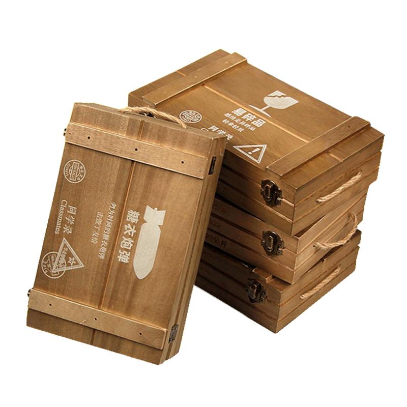 吃鸡弹药箱同学录木盒装复古手提创意男女中小学生留言毕业纪念册
