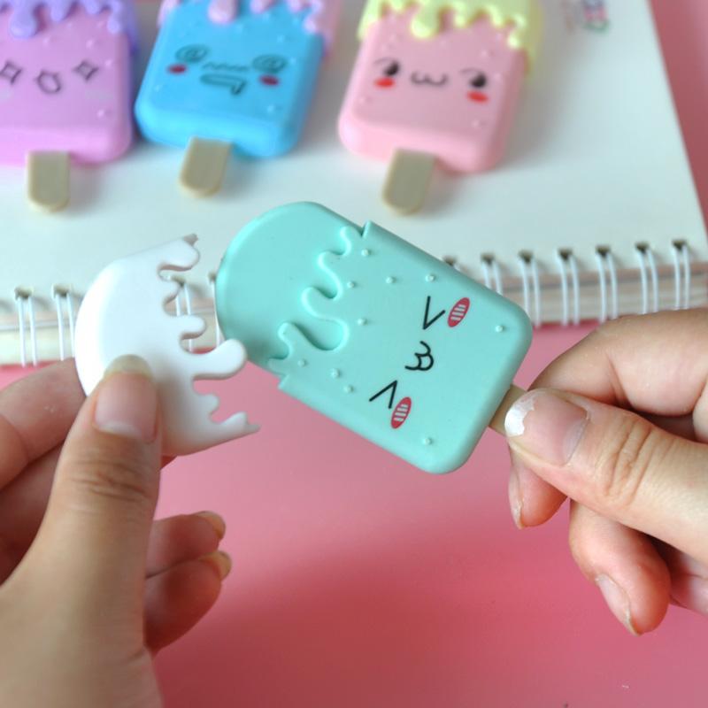 棒冰卡通造型橡皮擦创意可爱儿童礼物小学生文具奖品幼儿园小礼品