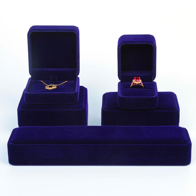 绒布首饰盒饰品收纳盒戒指项链手镯手链吊坠时尚首饰包装礼物盒子
