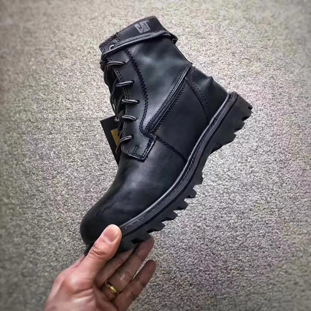 P720582 男鞋卡特户外休闲鞋英伦高帮工装鞋女鞋复古马丁靴短靴 CAT