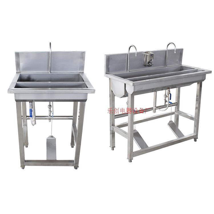 食品廠不銹鋼洗手池商用不銹鋼腳踏式消毒洗手池槽醫院消毒洗手盆