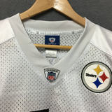NFL Steelers breathable mesh new white short-sleeved football shirt clothing hiphop hip motion