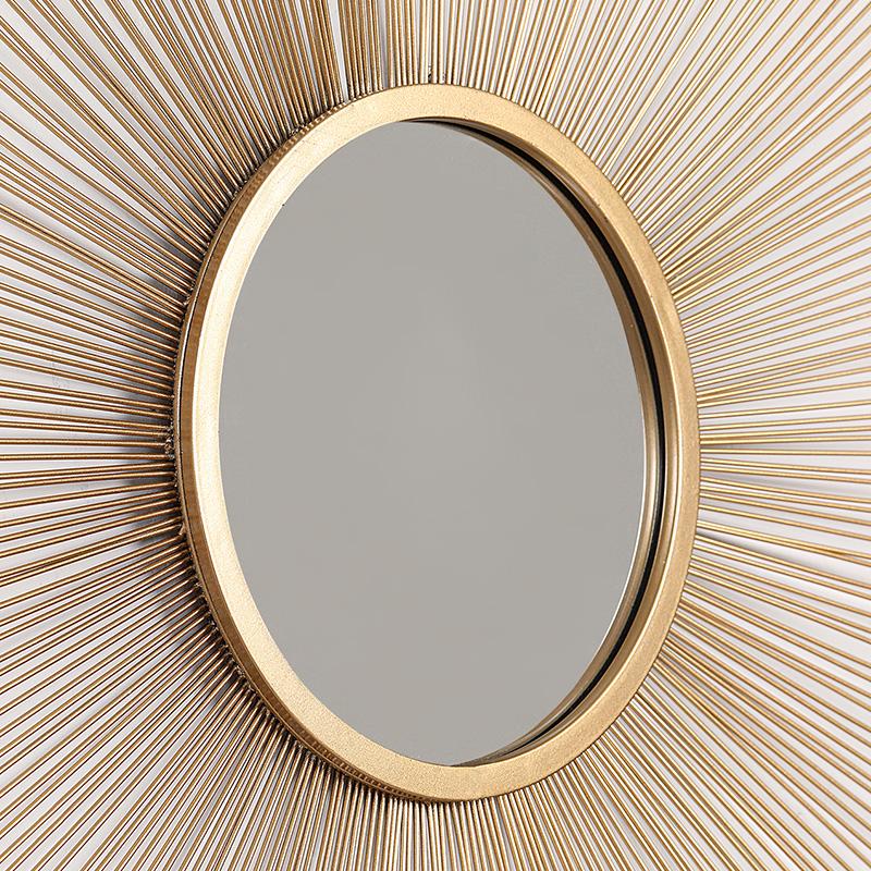 诺曼 轻奢欧式金属铁艺太阳镜壁饰墙饰 客厅玄关墙上装饰品壁挂