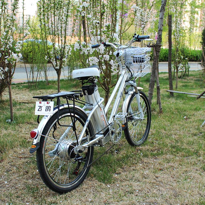 弗兰德国标电动自行车锂电铝合金6级变速自行车减震电瓶车48v18ah