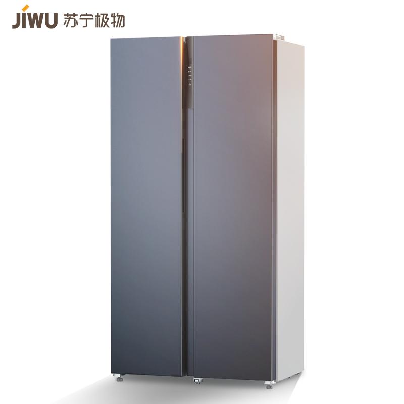 10日0点:JIWU 苏宁极物 小BIu系列 JSE5228LP 对开门冰箱 520L 炫空银2299元包邮(前50台可做到1499元)