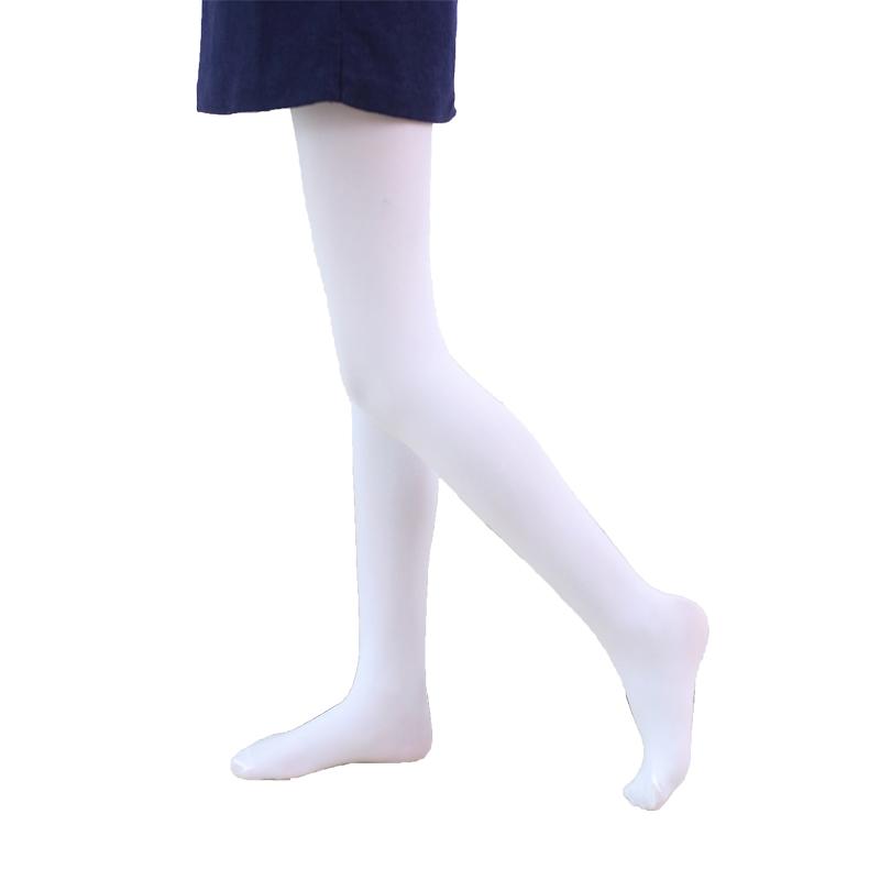 儿童连裤袜女童舞蹈袜白色打底裤薄绒款宝宝丝袜子练功春秋冬专用