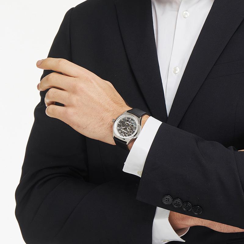 Armani官方正品阿玛尼复古皮带男士腕表 新年礼物机械表男AR60003
