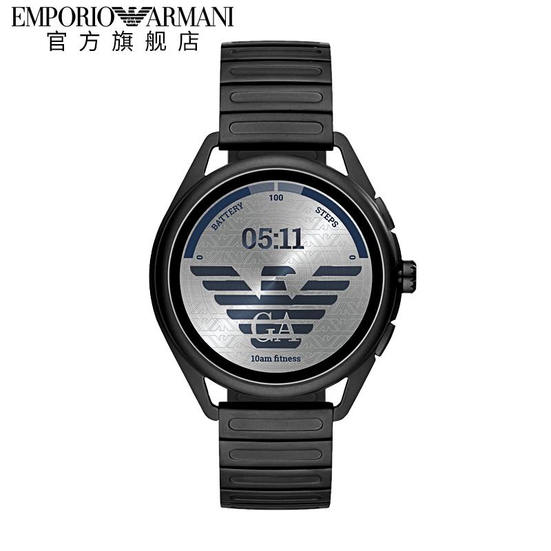 Armani阿玛尼品牌LOGO表盘2020年新品时尚钢带智能手表男ART5029