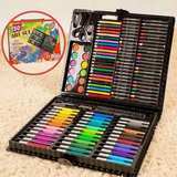 Watercolor pen 150 sets of crayons brush painting art kit for children Stationery Gift Set brush