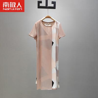 中年妈妈夏装连衣裙高贵洋气2020新款气质减龄年轻奶奶时尚雪纺裙