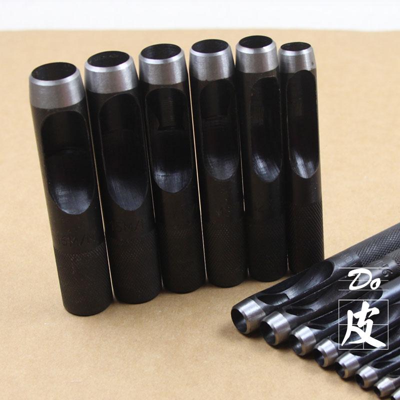 1-50mm 黑色皮带打孔器 皮带冲子皮革打孔器圆形德国钢铬钒钢冲头