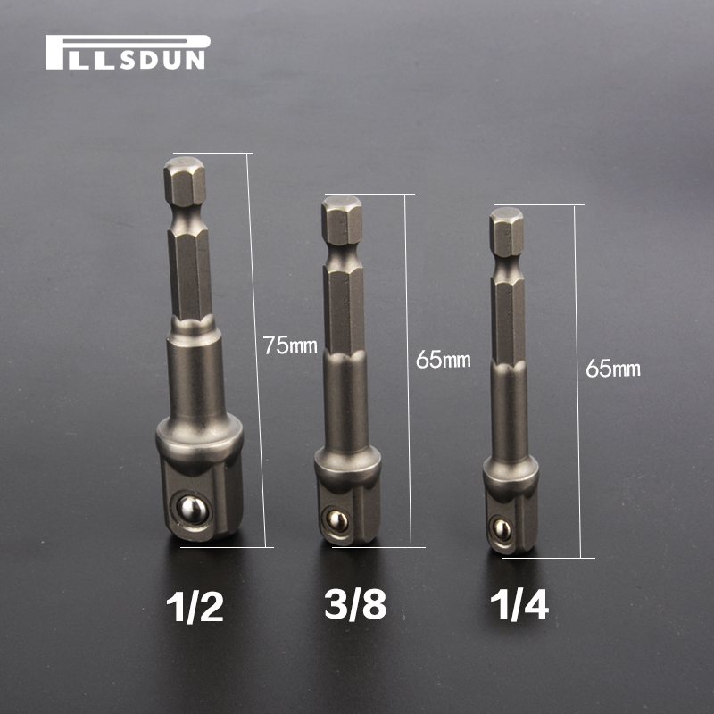 电钻接柱 风批电动气动套筒转接头六角转换接头套筒接杆维修工具