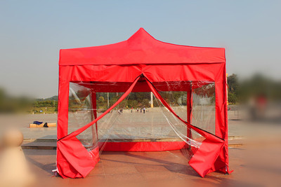 防疫隔离四面围布广告帐篷户外四角伸缩遮阳伞摆摊折叠铝合金雨棚