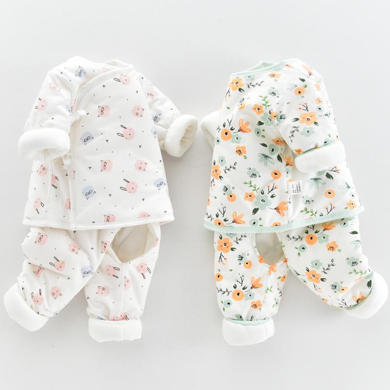新生婴儿儿棉衣套装秋冬季薄棉衣服刚出初生宝宝加厚保暖棉袄外套