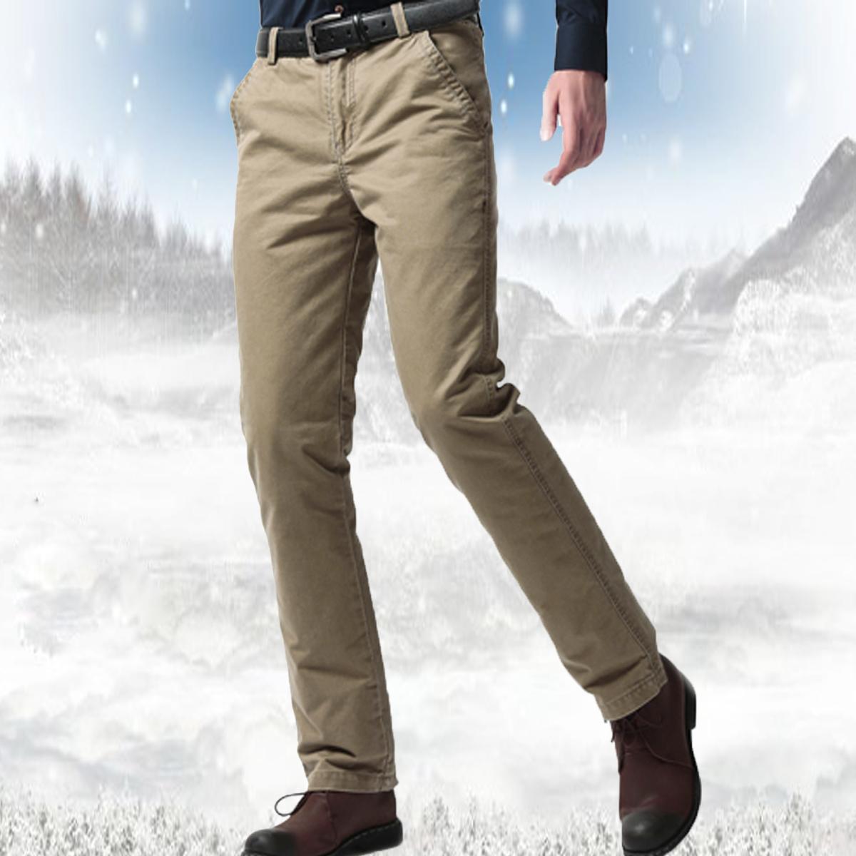 男羽绒裤外穿青年显瘦脱卸加厚内胆高腰修身休闲中老年羽绒棉裤冬