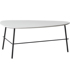Nordic modern minimalist small apartment wrought iron living room oval coffee table creative ins wind light luxury size combination tea table